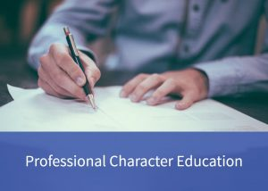 Button to professional character education page